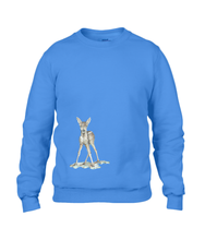 JanaRoos - T-shirts and Sweaters - Sweater - Packshot - Hand drawn illustration - Round neck - Long sleeves - Cotton - royal blue - royaal blauw - Bambi - baby deer - hert