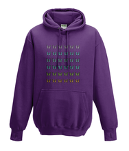 JanaRoos - Hoodies - Kids Hoodie - Packshot - Hand drawn illustration - Round neck - Long sleeves - Cotton - plum purple - paars -  butterflies - vlinders