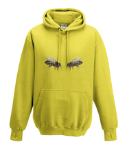 JanaRoos - Hoodies - Kids Hoodie - Packshot - Hand drawn illustration - Round neck - Long sleeves - Cotton - yellow - geel - bee's - bijen