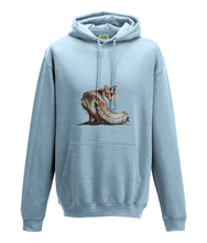 JanaRoos - Hoodie - Packshot - Hand drawn illustration - Round neck - Long sleeves - Cotton -sky blue- foxy - vos