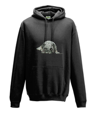 JanaRoos - Hoodie - Packshot - Hand drawn illustration - Round neck - Long sleeves - Cotton - jet black - zwart -pugg- mops
