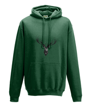 JanaRoos - Hoodie - Packshot - Hand drawn illustration - Round neck - Long sleeves - Cotton - forest green - deer