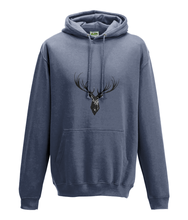 JanaRoos - Hoodie - Packshot - Hand drawn illustration - Round neck - Long sleeves - Cotton - airforce blue - deer
