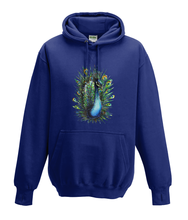 JanaRoos - Hoodies - Kids Hoodie - Packshot - Hand drawn illustration - Round neck - Long sleeves - Cotton - oxford navy blue - marine blauw - peacock - pauw