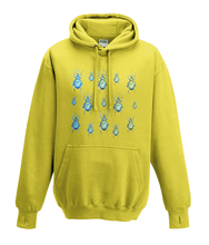 JanaRoos - Hoodies - Kids Hoodie - Packshot - Hand drawn illustration - Round neck - Long sleeves - Cotton - yellow - geel - beetles - kevers