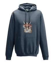 JanaRoos - Hoodie - Packshot - Hand drawn illustration - Round neck - Long sleeves - Cotton - storm grey - fox- vos