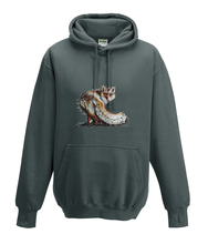 JanaRoos - Hoodies - Kids Hoodie - Packshot - Hand drawn illustration - Round neck - Long sleeves - Cotton - charcoal grey - grijs -fox - vos