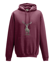JanaRoos - Hoodie - Packshot - Hand drawn illustration - Round neck - Long sleeves - Cotton -brick red- deer