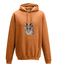 JanaRoos - Hoodie - Packshot - Hand drawn illustration - Round neck - Long sleeves - orange - zwart - fox- vos