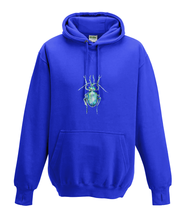 JanaRoos - Hoodies - Kids Hoodie - Packshot - Hand drawn illustration - Round neck - Long sleeves - Cotton - Royal Navy blue -Royaal blauw - beetle - kever