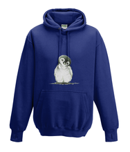 JanaRoos - Hoodies - Kids Hoodie - Packshot - Hand drawn illustration - Round neck - Long sleeves - Cotton - oxford navy blue - marine blauw - Penguin - Pinguïn