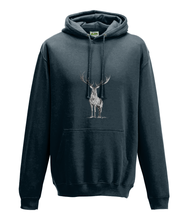 JanaRoos - Hoodie - Packshot - Hand drawn illustration - Round neck - Long sleeves - Cotton - new french navy - deer