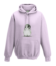 JanaRoos - Hoodies - Kids Hoodie - Packshot - Hand drawn illustration - Round neck - Long sleeves - Cotton - baby pink - baby roos - Penguin - Pinguïn