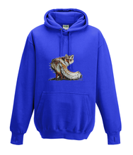 JanaRoos - Hoodies - Kids Hoodie - Packshot - Hand drawn illustration - Round neck - Long sleeves - Cotton - royal blue - blauw -fox - vos