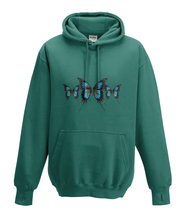 JanaRoos - Hoodies - Kids Hoodie - Packshot - Hand drawn illustration - Round neck - Long sleeves - Cotton - jade - appelblauw zeegroen -  butterflies - vlinders
