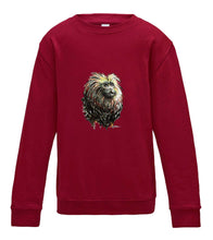JanaRoos - T-shirts and Sweaters - Kid's Sweater - Packshot - Hand drawn illustration - Round neck - Long sleeves - Cotton - red hot chilli - dieprood- lion tamarin monkey - leeuwaapje