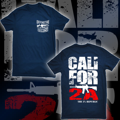 """Cali for 2A"" Tee- Navy"