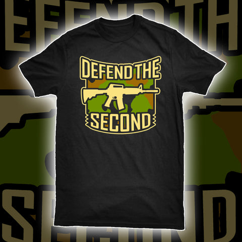 DTS Logo Tee in Camo- Black
