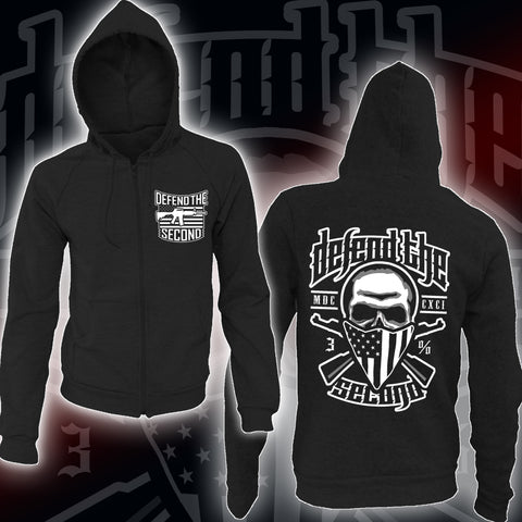Oath Keepers V2.5 Full Zip Hoodie- Black