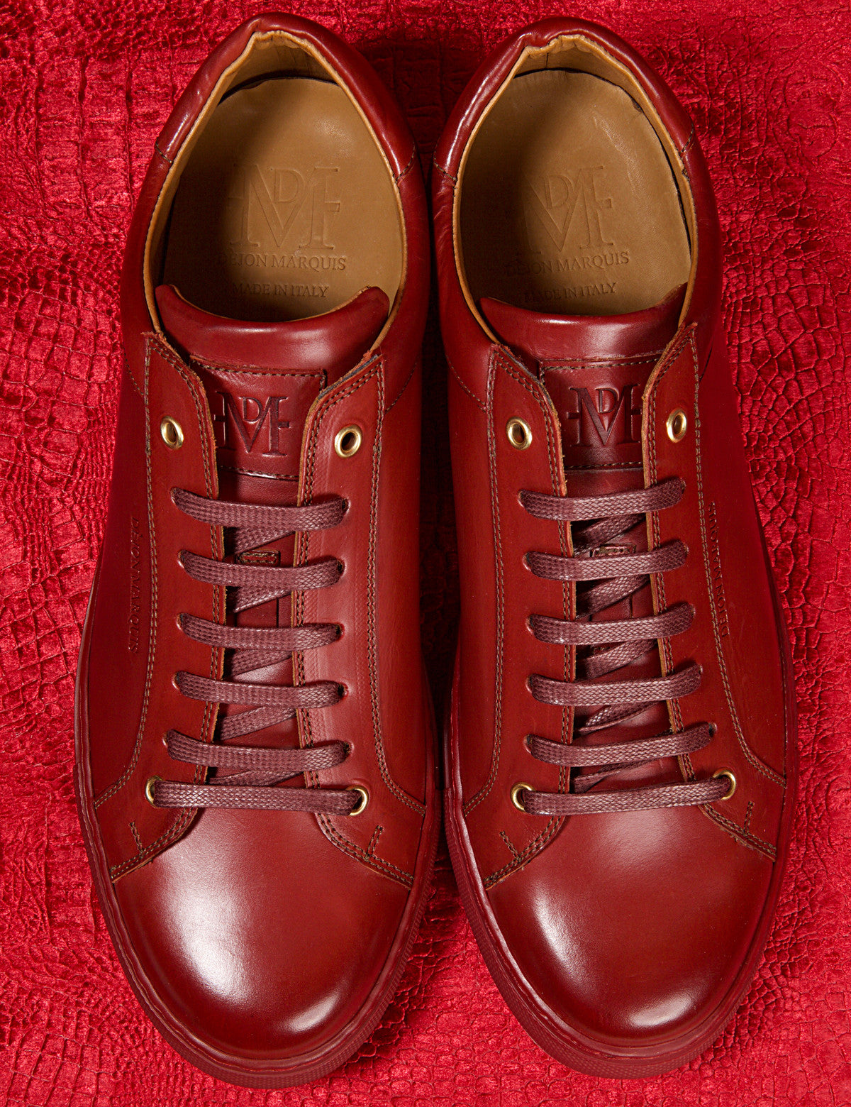 CHERRY LOW TOP TAILORED SNEAKER