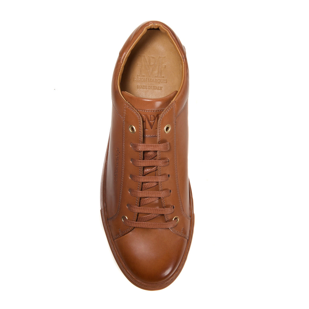 PRE-ORDER : COGNAC LOW TOP TAILORED SNEAKER
