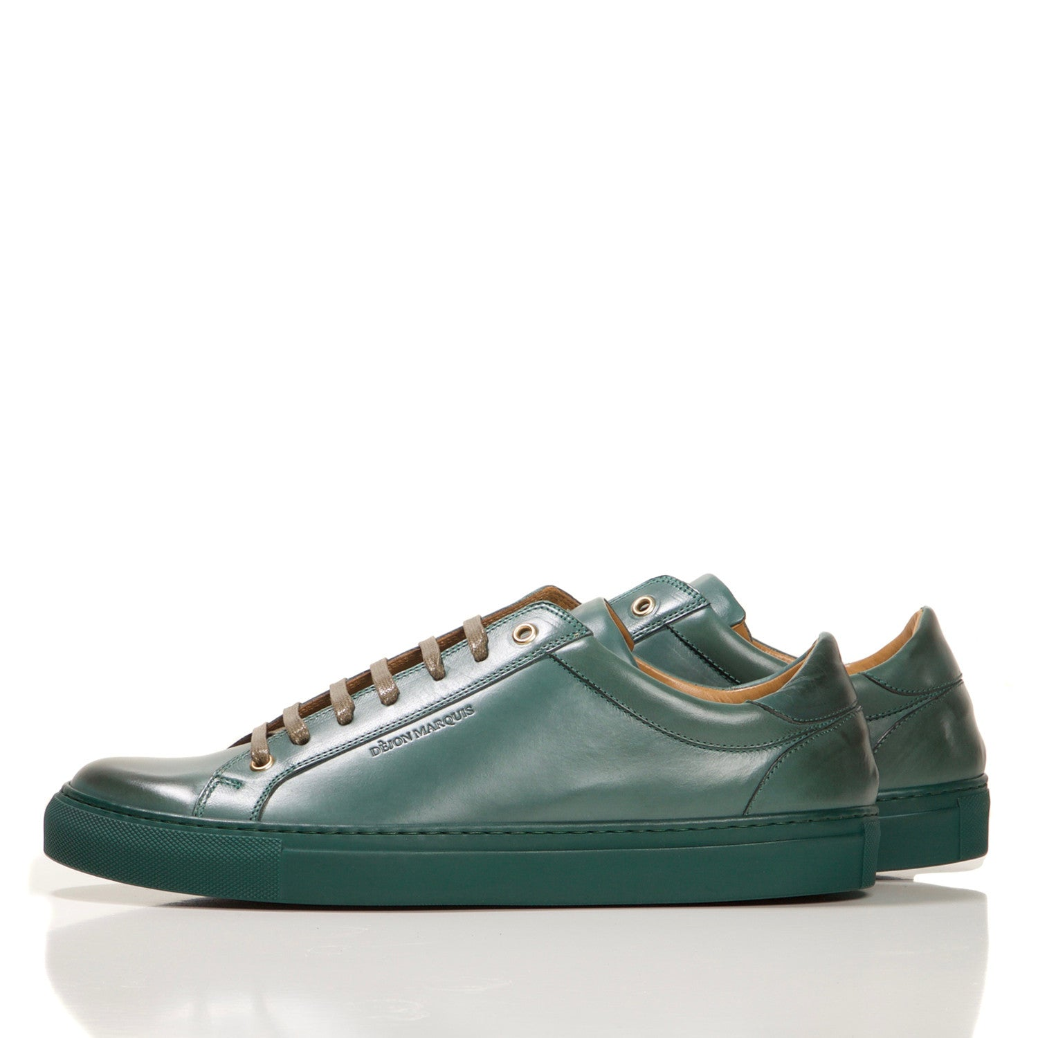 PRE-ORDER : FOREST GREEN LOW TOP TAILORED SNEAKER