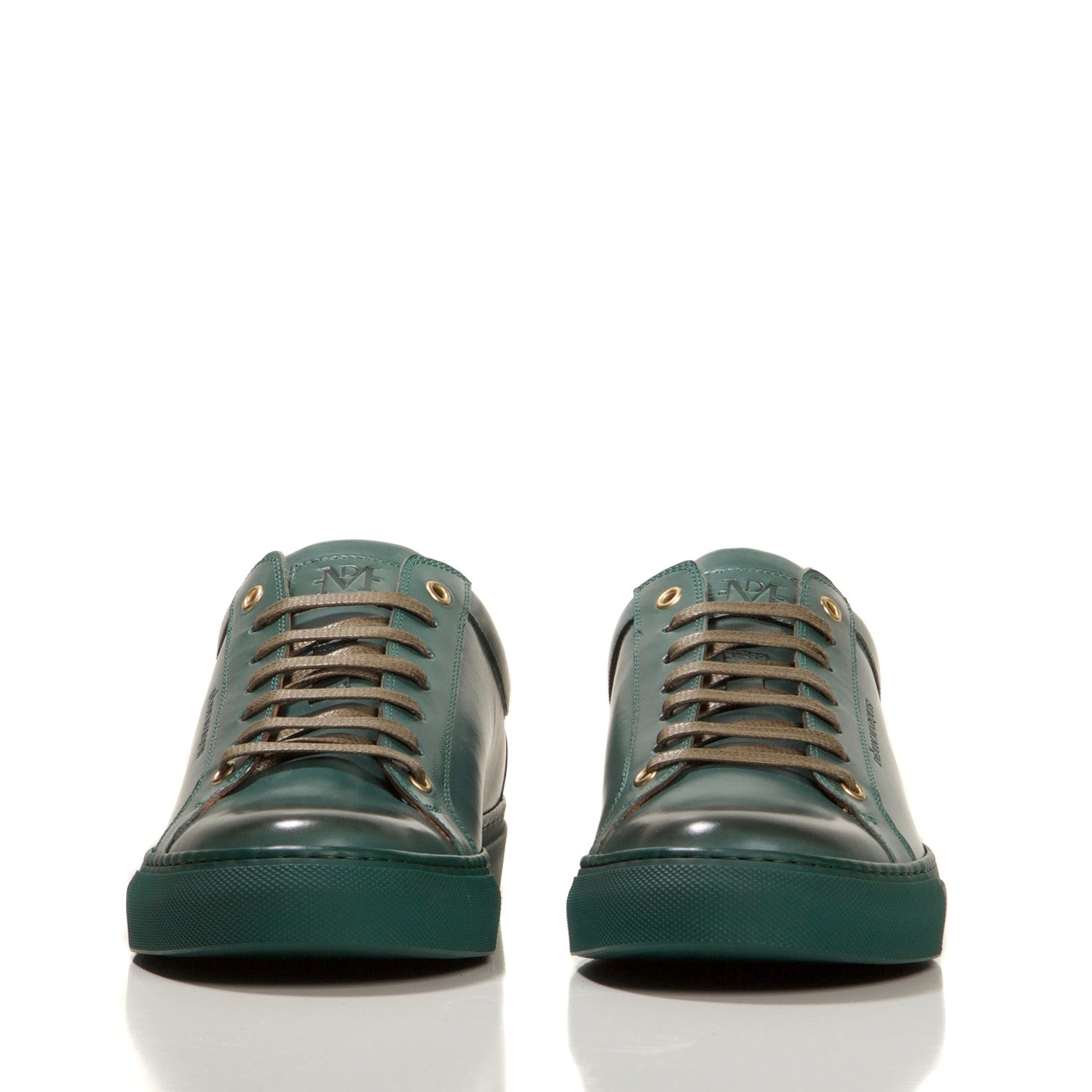 FOREST GREEN LOW TOP TAILORED SNEAKER
