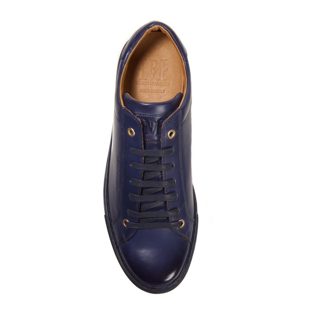 NAVY LOW TOP TAILORED SNEAKER