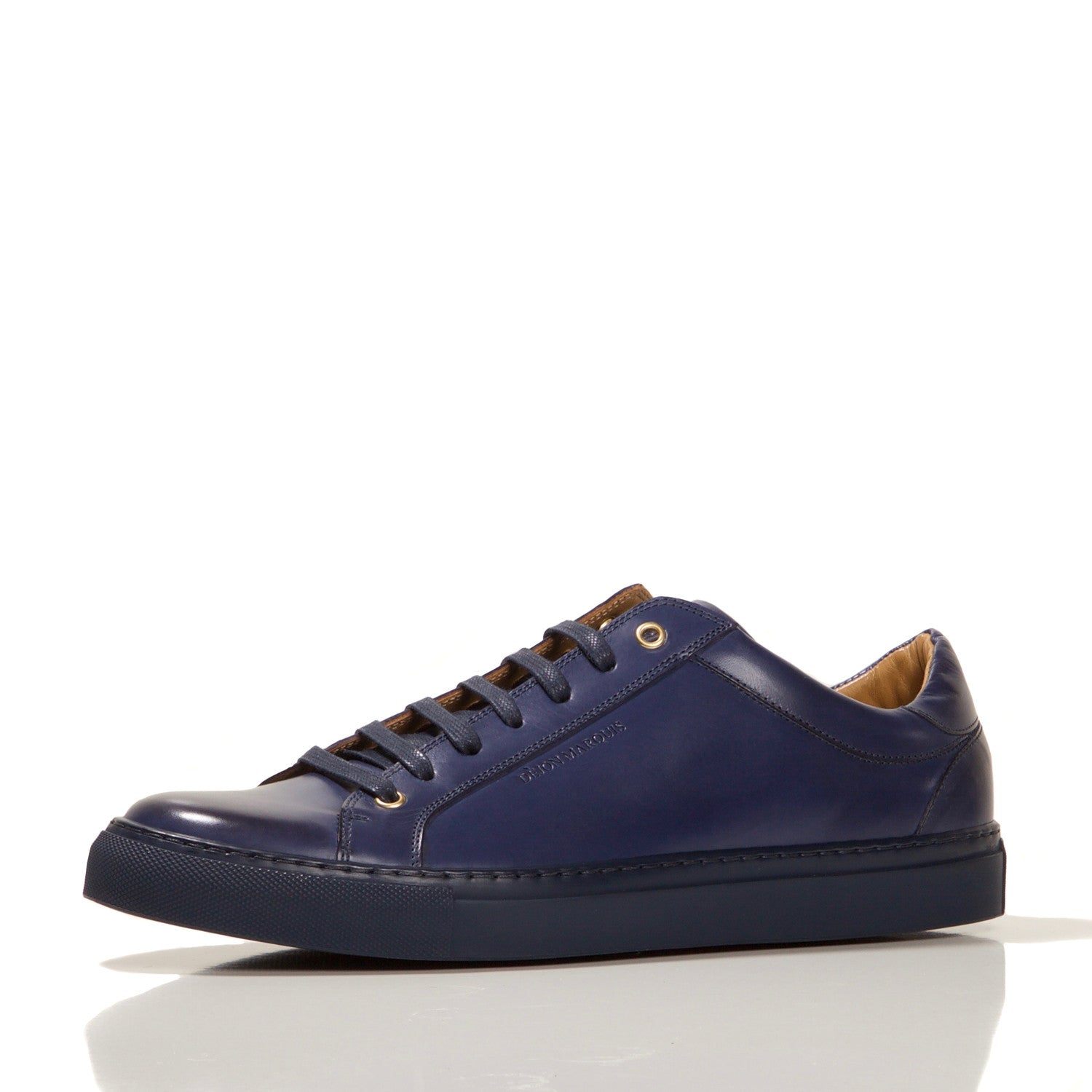 PRE-ORDER : NAVY LOW TOP TAILORED SNEAKER