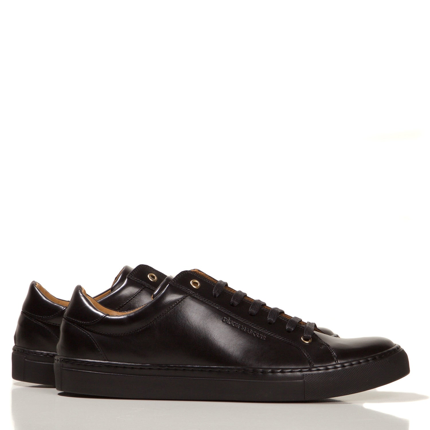 PRE-ORDER : BLACK LOW TOP TAILORED SNEAKER