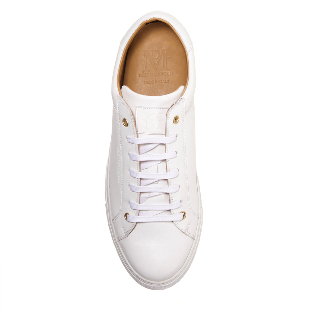 WHITE LOW TOP TAILORED SNEAKER