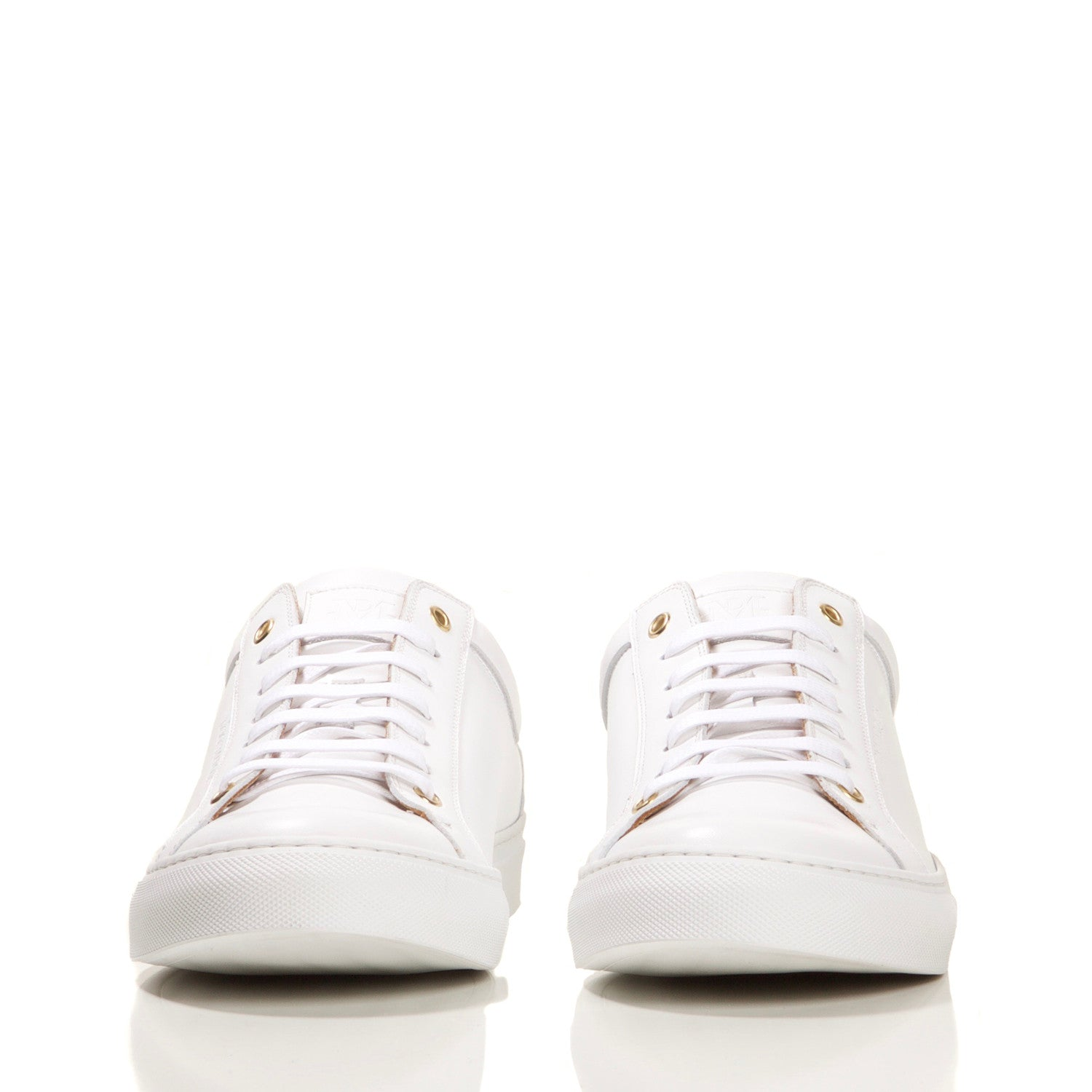 PRE-ORDER : WHITE LOW TOP TAILORED SNEAKER
