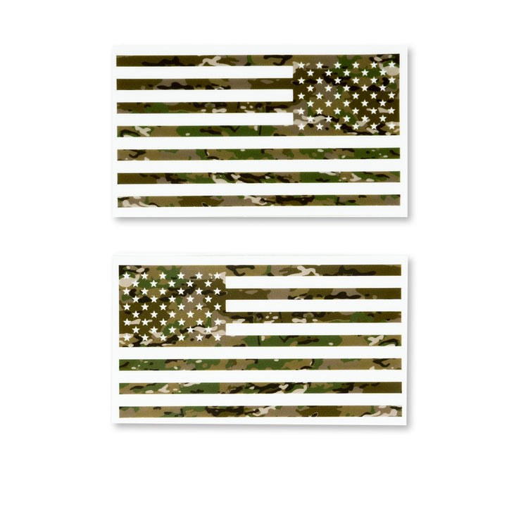 Clear Camo Flag Decals - 2 Pack - Combat Flags