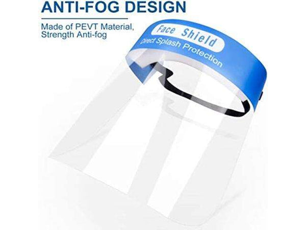 200pcs Anti-fog Full Safety Face Shield, Universal Reusable Face Protective Visor for Eye Head Protection, Anti-Spitting Splash