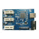 PCI-e express 1x to 3 port Riser Card slot