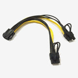18AWG PCIE 6pin to Dual 8pin (6+2) splitter cable