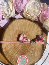 Floral knot baby headband