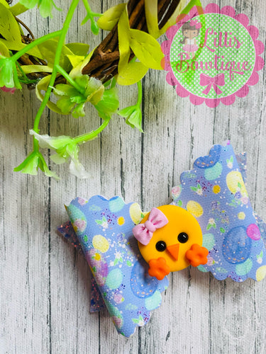 Easter chick bow