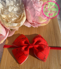 Rose double tux bow