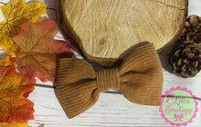 Cord autumn hair bow
