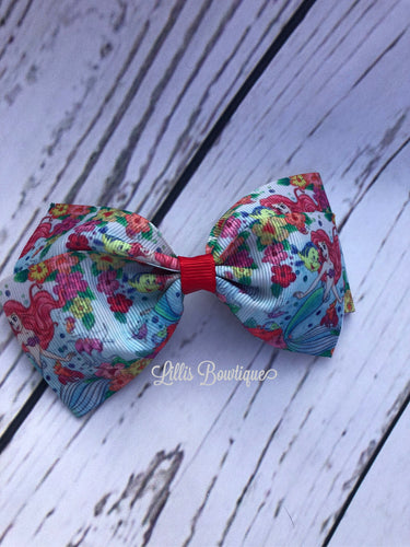 Little mermaid pinch bow