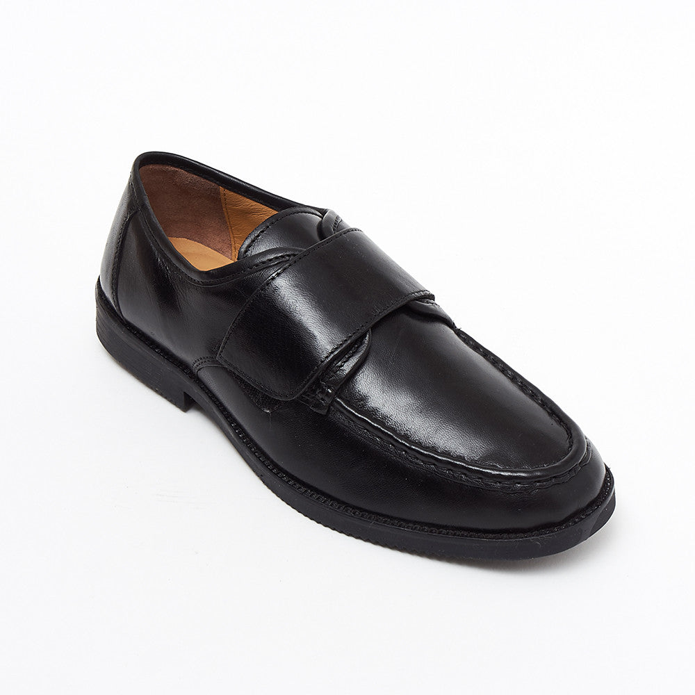 Mens Leather Velcro Comfort Shoes - 17983