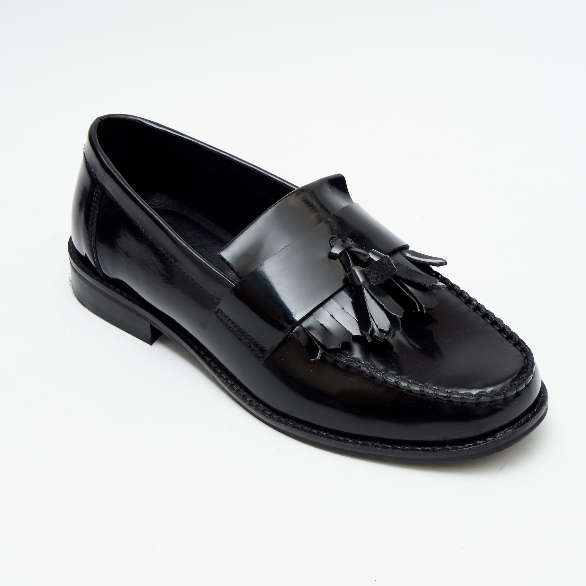 Mens Formal Moccasin Shoes 17999_Black Patent