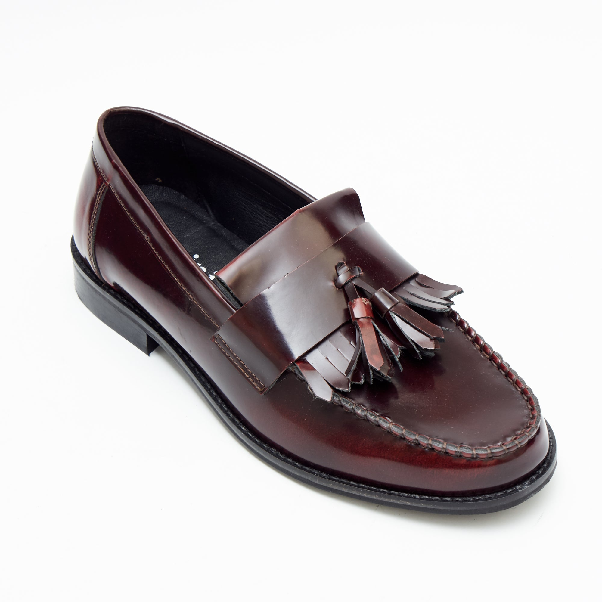 Mens Formal Moccasin Shoes 17999_Bordo Patent
