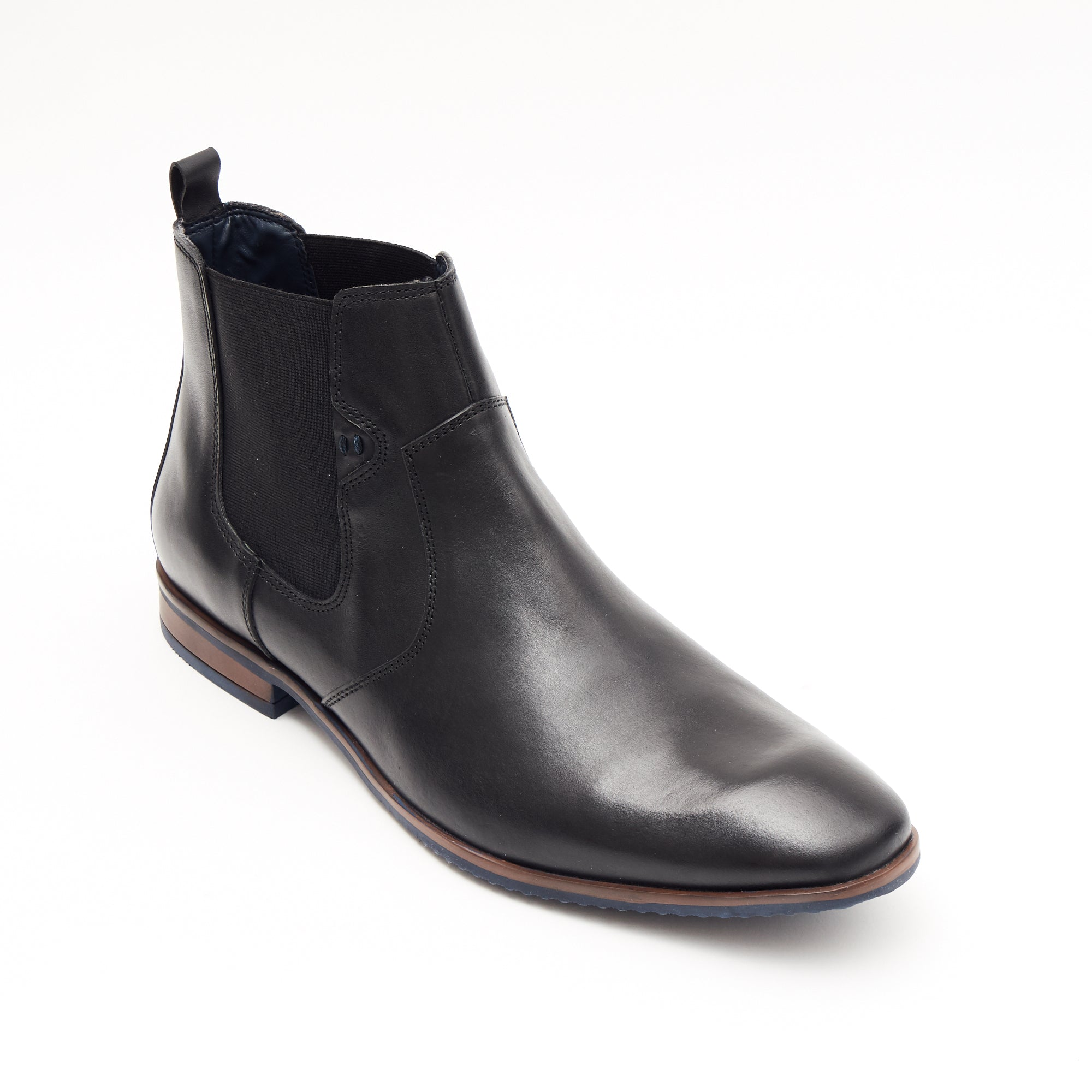 Mens Leather Chelsea Boots 24718_Black
