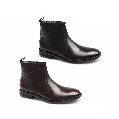 Mens Leather Ankle Boots - 305
