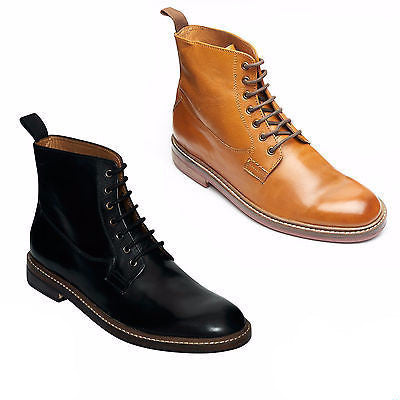 Mens Leathe Lace Up Ankle Boots - 17920