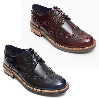 Mens Leather Brogues Shoes 15703