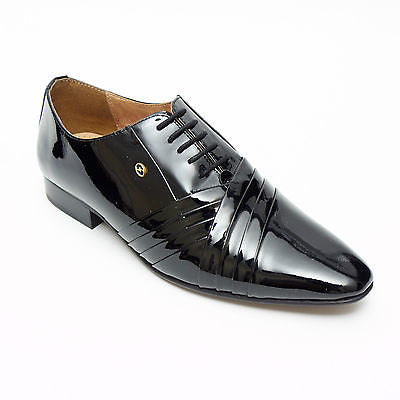 Mens Leather Spanish Shoes Patent - 33472
