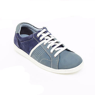 Mens Suede Causal Denim Trainer Shoes